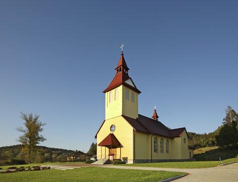 Parish Church of the Ascension in Lipa. Podkarpackie Voivodeship. Poland