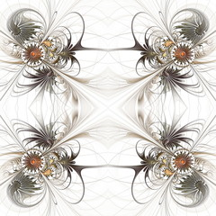 Flower seamless background with embossed effect. Artwork for cre