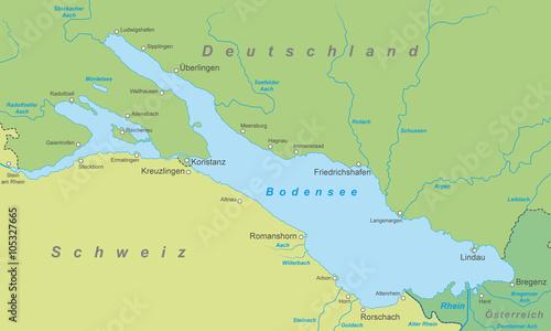 Der bodensee karte in gr nt nen stockfotos und for Bodensee karte