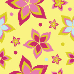 Seamless vector background with decorative flowers. Print. Cloth design, wallpaper.