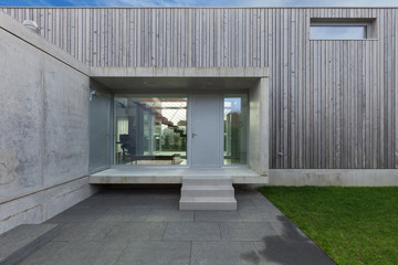 Entrance of a modern house