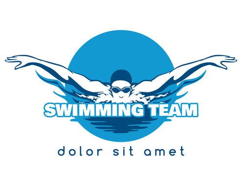 Swimming Team Vector Logo