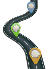 Gps Navigation Concept - 3D