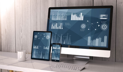 devices responsive on workspace stock data