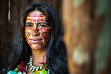 Brazilian Indian in Amazon, Brazil