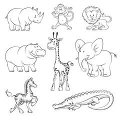 Safari and jungle vector animals