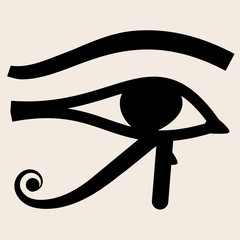 Horus eye vector icon.
