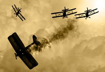 World War 1 aircraft scene
