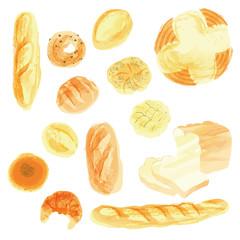 パン・水彩2