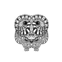 Vector Decorative liner Owl