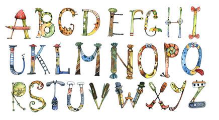 alphabet, letter, watercolor