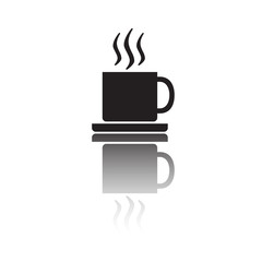 Coffee cup. Vector illustration of hot coffee or tea cup.