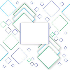 Vector Abstract geometric shape from colored rhombus outline