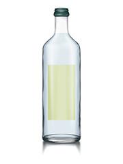 Mock-up Glass Bottle Change Color liquid, Bottle, Cap
