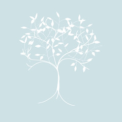 cute tree - illustration - greeting card