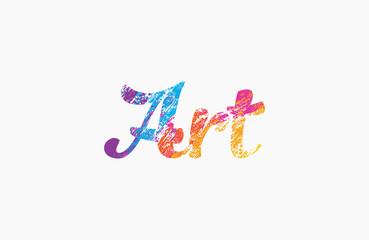 Art logo. Creative logo design. Colorful logo.