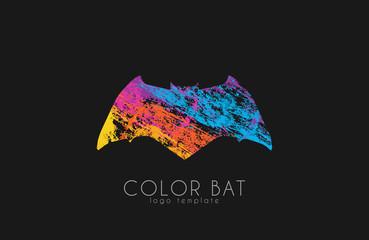 Bat logo. Color bat. Creative logo design