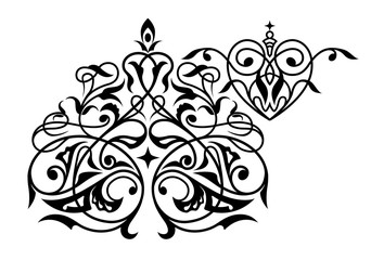 Decorative element traditional eastern ornament.
