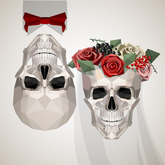 two newlywed skulls