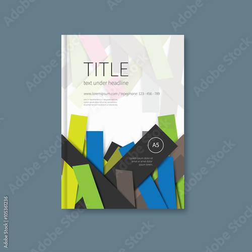 Book Design Cover Template Brochure Or Notebook First Page With