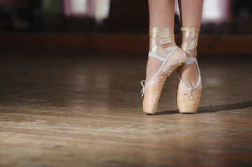 ballerina or dancer in pointe