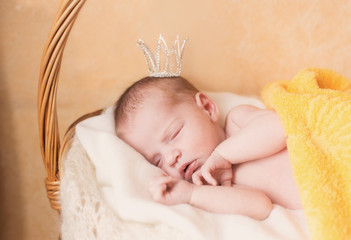 Sleeping small princess