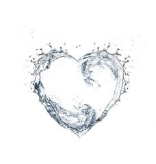 water splashing in heart form