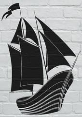 Voilier street art
