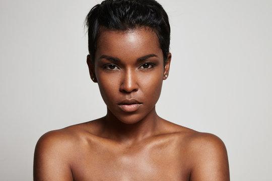 black woman's portrait closeup