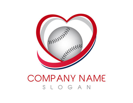 Love baseball logo