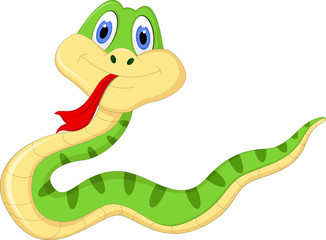 Cute snake cartoon for you design