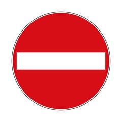 Verkehrsschild Verbot der Einfahrt