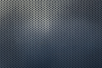 Background texture of a perforated metal grid