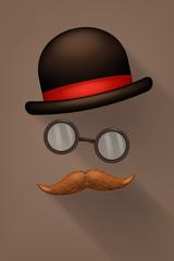 mustzhe glasses hat