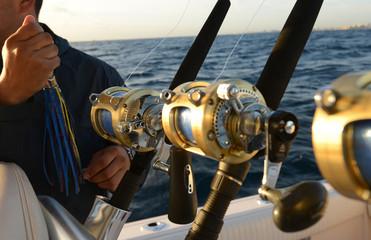 Deep sea saltwater fishing