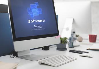 Software Digital Electronics Internet Programs Concept
