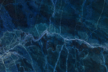 blue dark marble texture for background