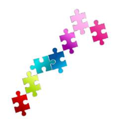 puzzle reihe bunt regenbogen