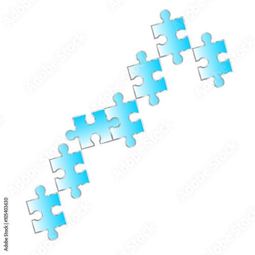 puzzle reihe Verbindung Symbol zeichen\