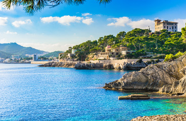 Seaside of Cala Ratjada Majorca Spain Wall mural