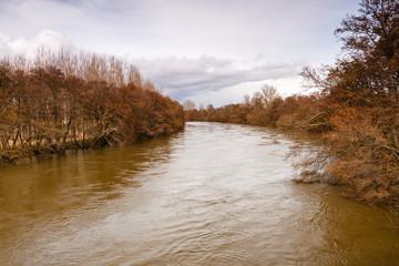 Crecida por el deshielo en el Río Órbigo, León.