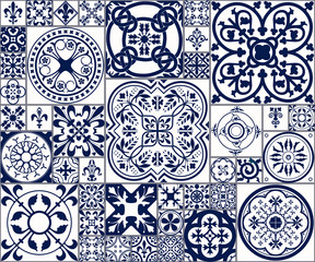 Moroccan tiles Seamless Pattern A