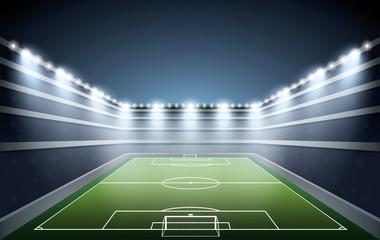 Soccer Stadium with spot lights.