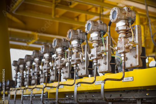 Oil And Gas Measuring Instruments : Quot pressure transmitter installed at oil and gas wellhead