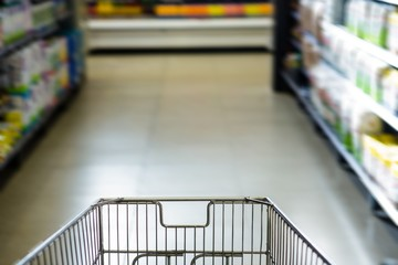Cart in the supermarket
