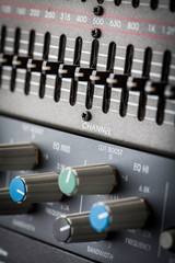 Buttons in sound studio