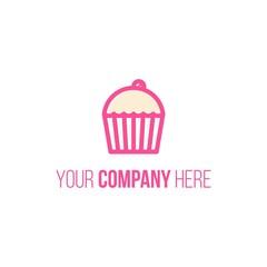cupcake logo icon Vector