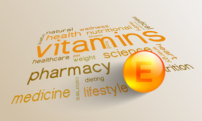 Vitamin E element for a healthy life