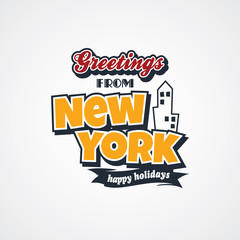 new york vacation greetings theme
