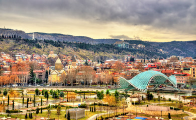 View of Tbilisi with Rike Park